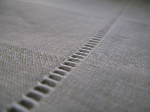 Hemstitch used on a Tablecloth
